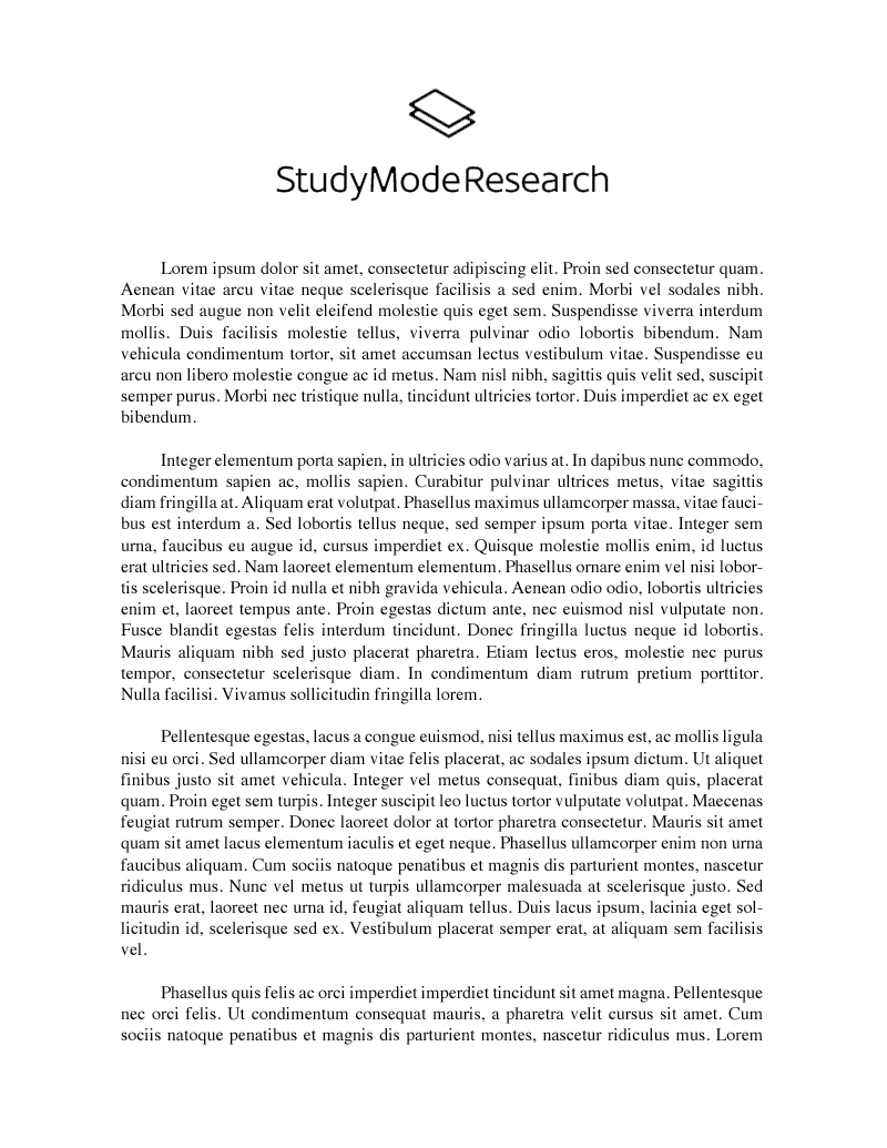 Examples of broad topics for research paper