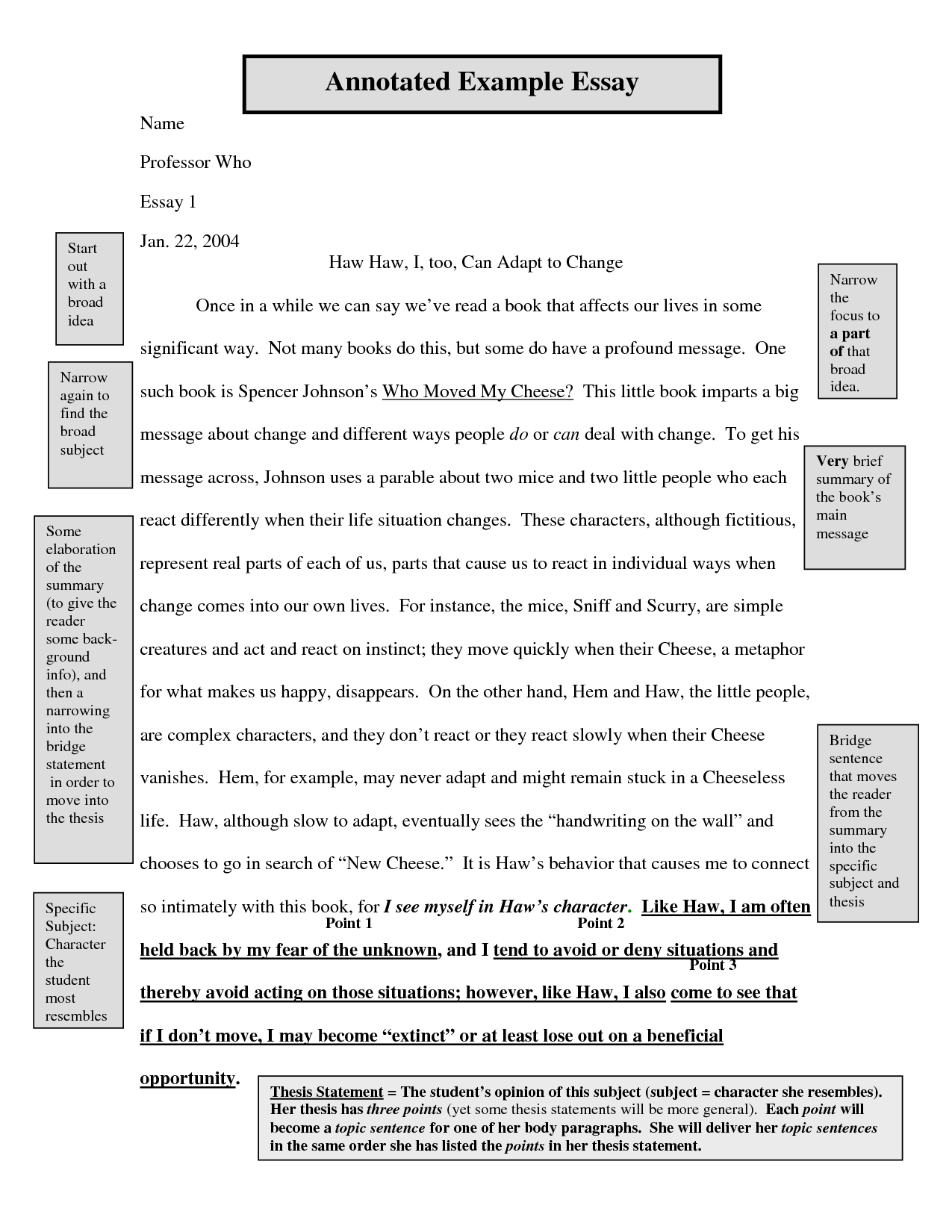 thesis statement three points Instead of listing two or three distinct points, a thesis can list one overarching point that all body paragraphs tie into example: good vs evil is the main theme of lewis's narnia series, as is made clear through the struggles the main characters face in each book.